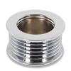 46mm 6 rib serpentine pulley - chrome plated aluminum