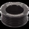 46mm 5 rib serpentine pulley - hard anodized aluminum