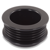 54mm 5 rib pulley, extended shoulder, hard anodized alum
