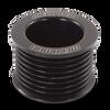 46mm 8 rib serpentine pulley - hard anodized aluminum