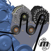 Dual Bracket Black 05-13 GM Trucks w/4.8L, 5.3L, 6.0L & 6.2L (Includes 1 Billet Alternator)