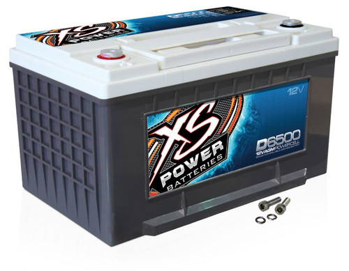 XS Power D6500 12V AGM Battery, Max Amps 3900A - 4000W