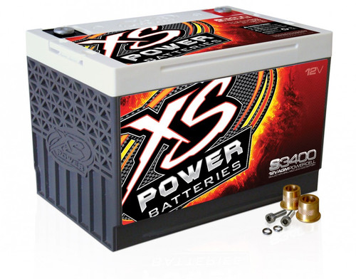 XS Power S3400 12V BCI Group 34 AGM Starting Battery, Max Amps 3,300A  CA: 1,000A