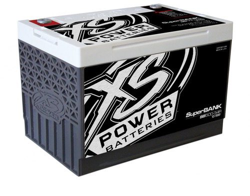 XS Power SB500-34R 12V Super Capacitor Bank, Group 34R, Max Power 4,000W, 500 Farad