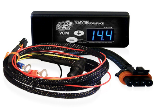 "XS Power Controller and Harness for GM ""D"" & ""AD"" 4 Pin Alternators (1995 to 2008), Blue Display"