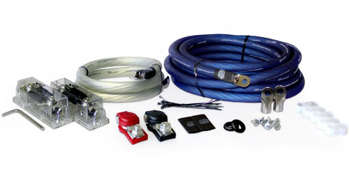 XS Power AK-3500 1/0 AWG, 3500-4000W Install Kit with 2, 350A Fuses and Holders