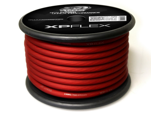 XP FLEX RED 2 AWG CCA CABLE CABLE 100' Spool