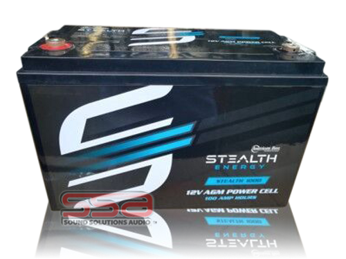 Stealth 1000 (12V100AH) AGM Battery by American Bass