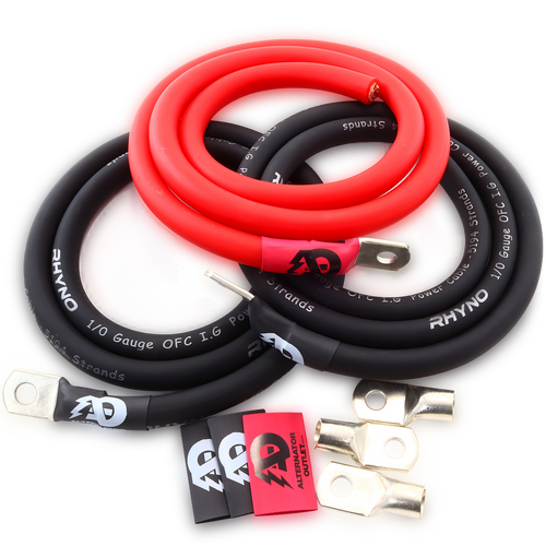 AO OFC 1/0 AWG Big 3 Kit (Red)
