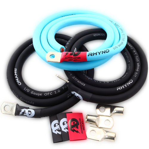 AO OFC 1/0 AWG Big 3 Kit (Blue)