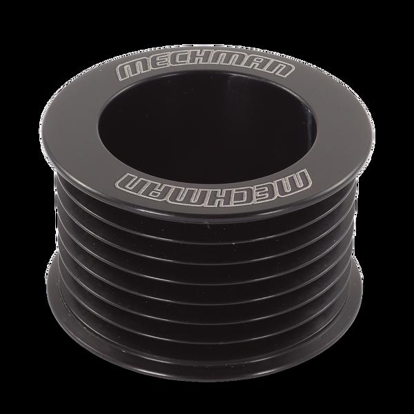 46mm 7 rib serpentine pulley - hard anodized aluminum