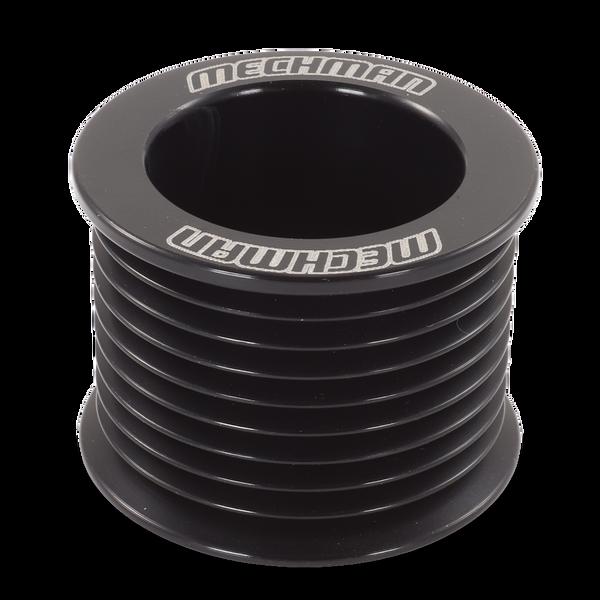 46mm 9 rib serpentine pulley - hard anodized aluminum