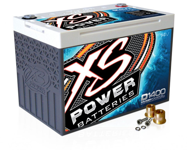 XS Power D1400 14v AGM Battery, Max Amps 2400A