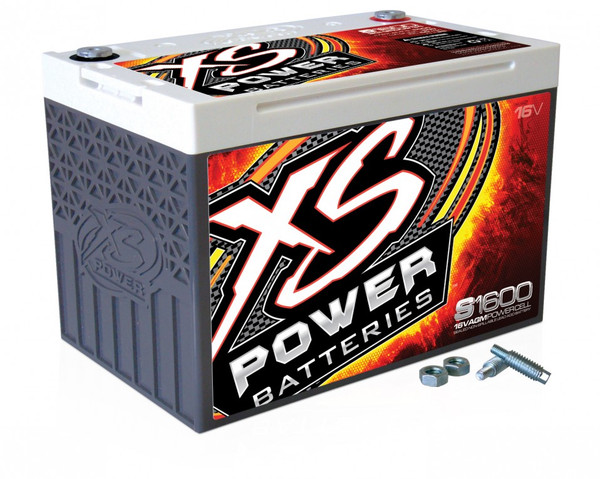 XS Power S1600 16V BCI Group 34 AGM Starting Battery, Max Amps 2,000A  CA: 500A  Ah: 25
