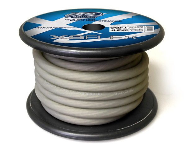 XS FLEX CLEAR 1/0 AWG OFC CABLE 50' Spool