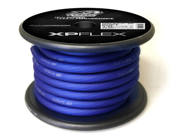 XP FLEX BLUE 1/0 AWG CCA CABLE CABLE 50' Spool