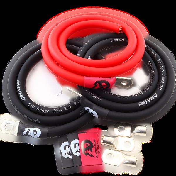 AO OFC 1/0 AWG Big 3 Kit (Red)