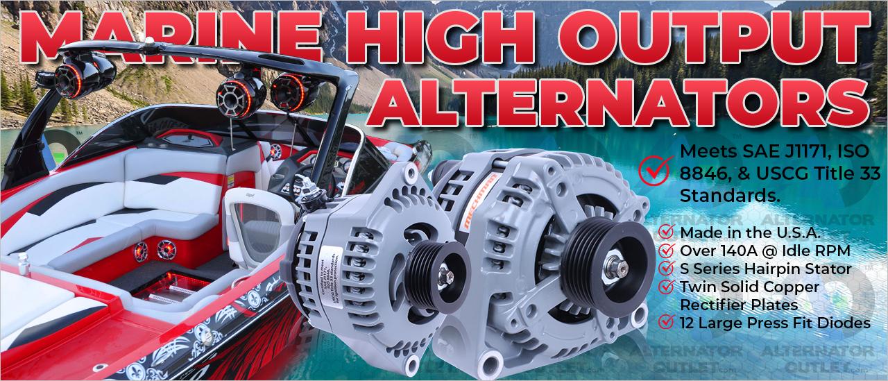 Mechman Marine High Output Alternators