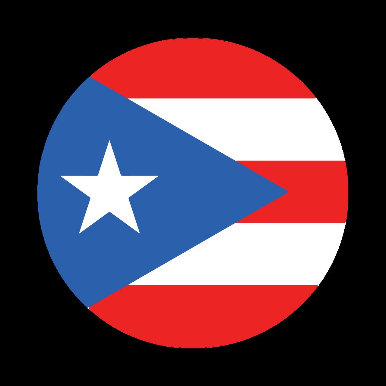 Puerto rico flag knob sticker victus sports