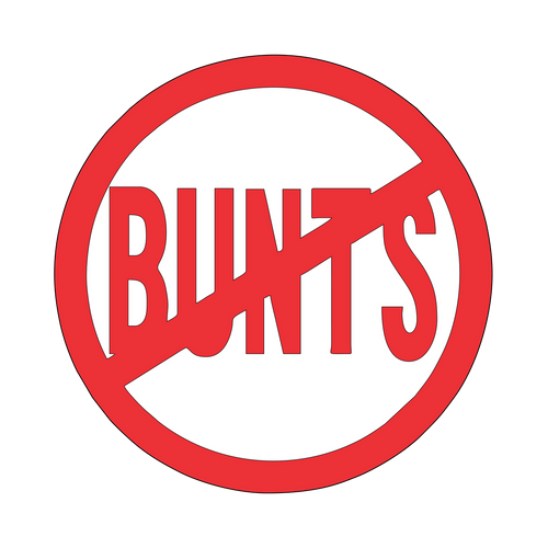 No Bunts Knob Sticker