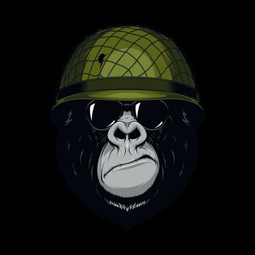 Grit Gorilla Knob Sticker