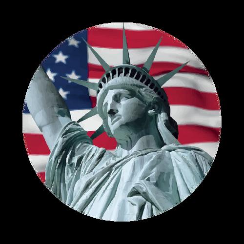 USA Flag Knob Sticker