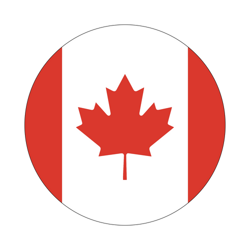 Canada Flag Knob Sticker