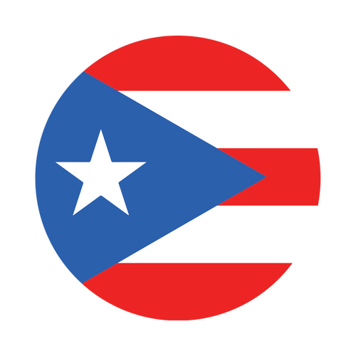 Puerto Rico Flag Knob Sticker