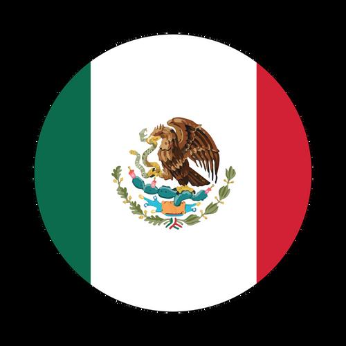 Mexico Flag Knob Sticker