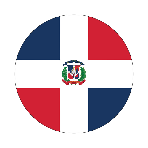 Dominican Republic Flag Knob Sticker