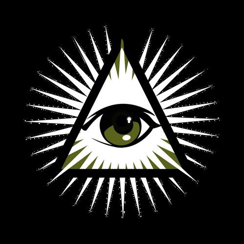 Illuminati Knob Sticker