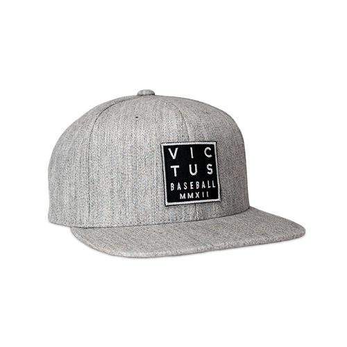 "Grey ""Four Corners"" Snapback Hat"
