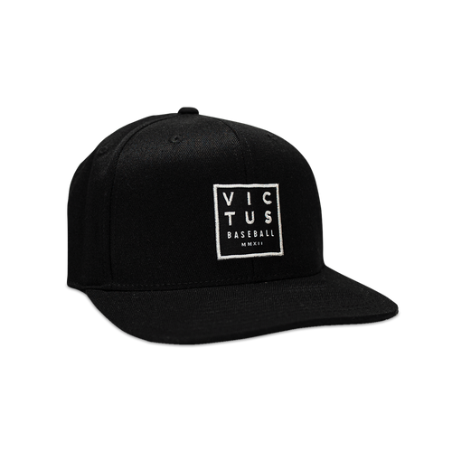 "Black ""Four Corners"" Snapback Hat"