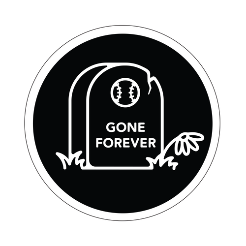 Gone Forever Knob Sticker