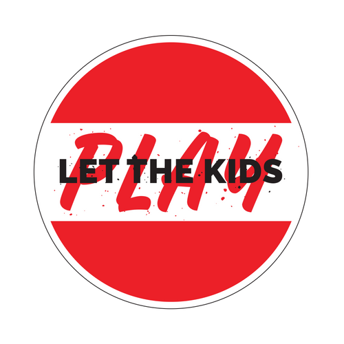 Let The Kids Play Knob Sticker