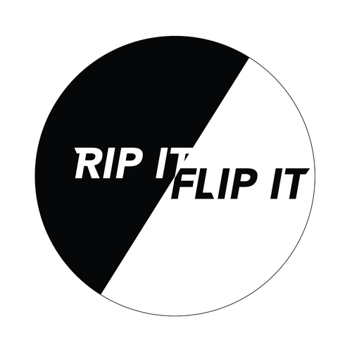 Rip It And Flip It Knob Sticker