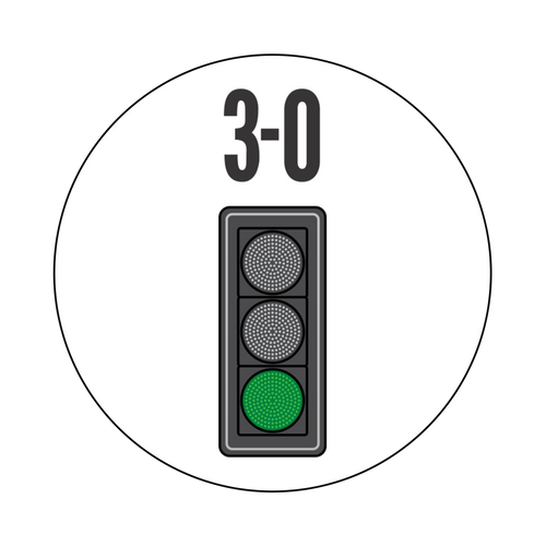 3-0 Greenlight Knob Sticker