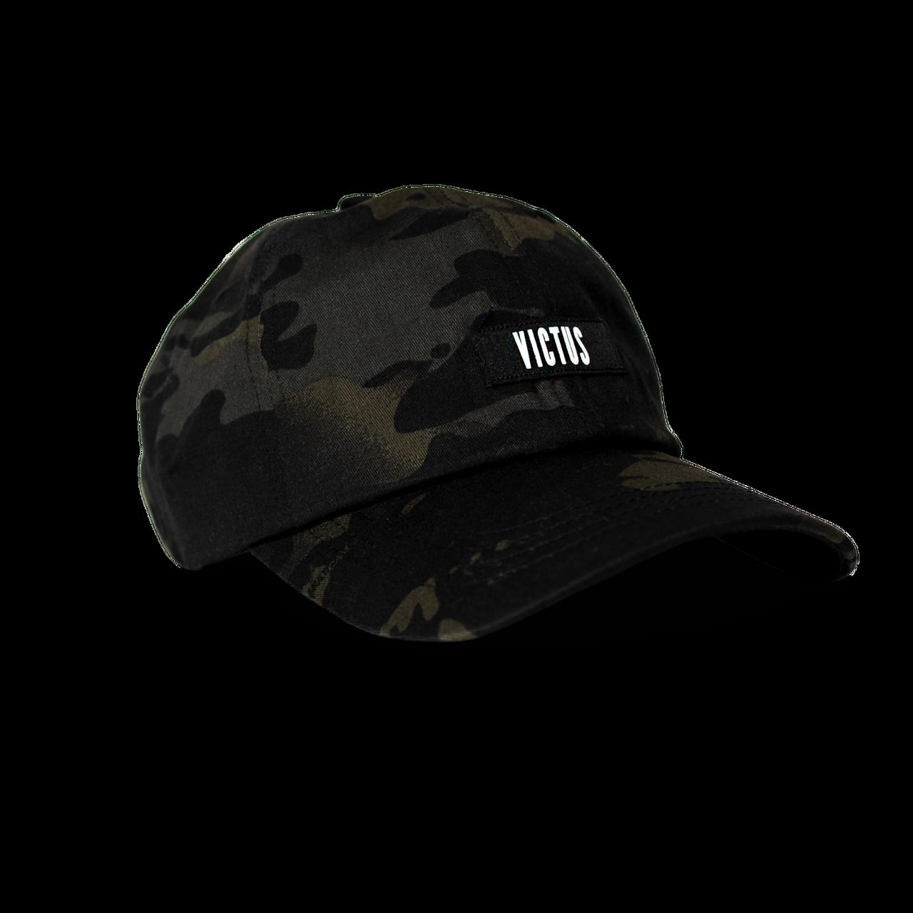 Victus Adjustable Black Camo Hat