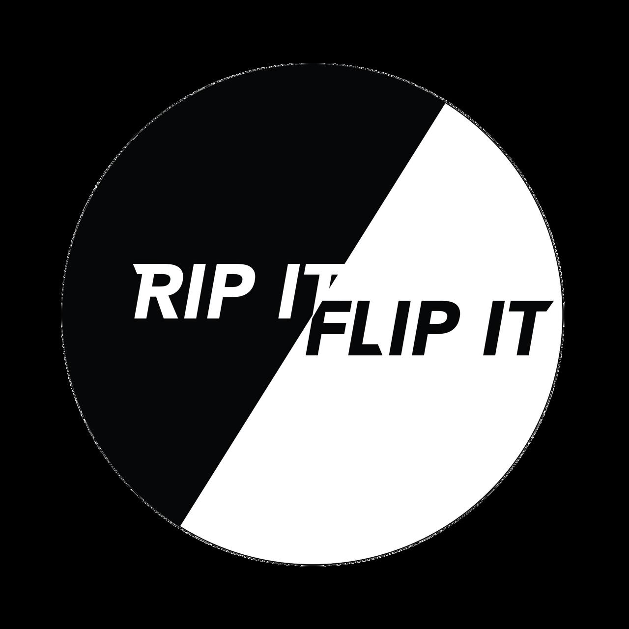 Rip It And Flip It Knob Sticker