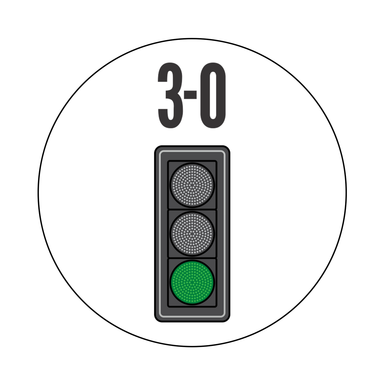 3-0 Greenlight Knob Sticker