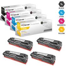 CS Compatible Replacement for HP 125A Toner Cartridge 4 Color Set (CB540A/ CB541A/ CB543A/ CB542A)