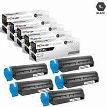 Compatible Okidata 44574901 Laser Toner Cartridges High Yield Black 5 Pack