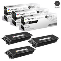 Compatible Brother TN570 Premium Quality Laser Toner Cartridge High Yield Black 3 Pack