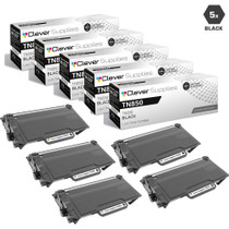 Compatible Brother TN850 Laser Toner Cartridge High Yield Black 5 Pack