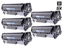 Compatible Canon 104 (0263B001AA) Toner Cartridges Black 5 Pack