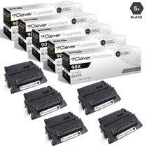 CS Compatible Replacement for HP CE390X Toner Cartridge High Yield Black 5 Pack/ HP 90X Toner