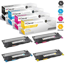 Compatible Dell 1230c Laser Toner Cartridge 4 Color Set