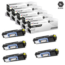 Compatible Dell 1700N Toner Cartridge High Yield Black 5 Pack