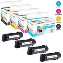 Compatible Dell Color Laser S2825 Laser Toner Cartridges 4 Color Set