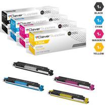 CS Compatible Replacement for HP 130A Toner Cartridge 4 Color Set (CF350A/ CF351A/ CF353A/ CF352A)